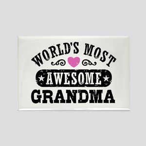 World's Most Awesome Grandma Rectangle Magnet