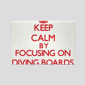 Keep Calm by focusing on Diving Boards Magnets