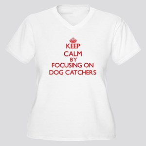 Keep Calm by focusing on Dog Cat Plus Size T-Shirt