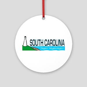 South Carolina Ornament (Round)