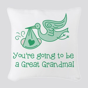 Great Grandma Woven Throw Pillow