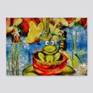 Frog Party 5'x7'Area Rug