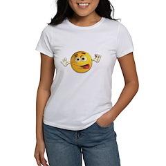 Goofy Emoticon Smiley Women's T-Shirt