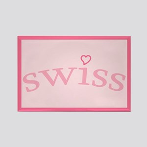 """Swiss with Heart"" Rectangle Magnet"