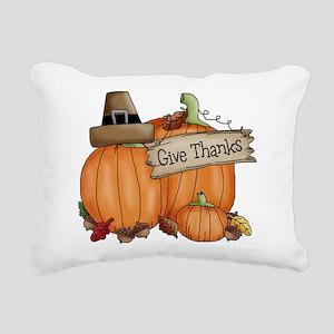 Thanksgiving Rectangular Canvas Pillow
