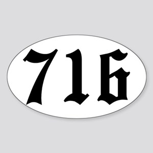 """716"" Oval Sticker"