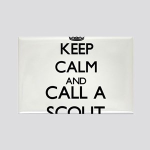 Keep calm and call a Scout Magnets