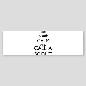 Keep calm and call a Scout Bumper Sticker