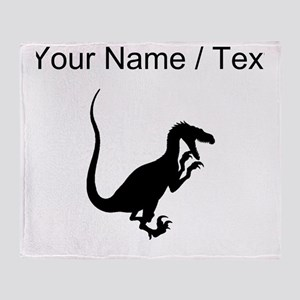 Velociraptor Silhouette (Custom) Throw Blanket