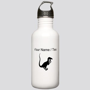 Velociraptor Silhouette (Custom) Water Bottle