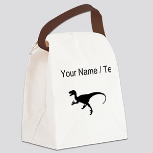 Velociraptor Silhouette (Custom) Canvas Lunch Bag