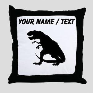Tyrannosaurus Rex Silhouette (Custom) Throw Pillow
