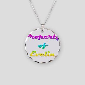 Property Of Evelin Female Necklace Circle Charm