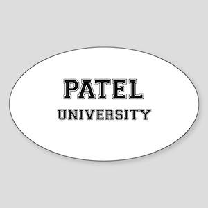 PATEL UNIVERSITY Oval Sticker