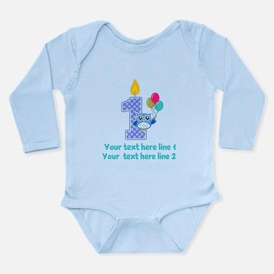1st birthday Long Sleeve Infant Bodysuit