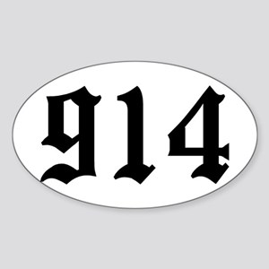 """914"" Oval Sticker"