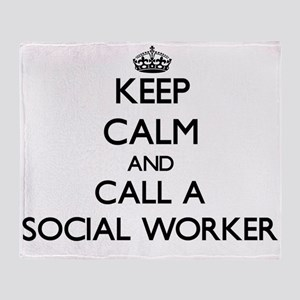 Keep calm and call a Social Worker Throw Blanket