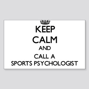 Keep calm and call a Sports Psychologist Sticker