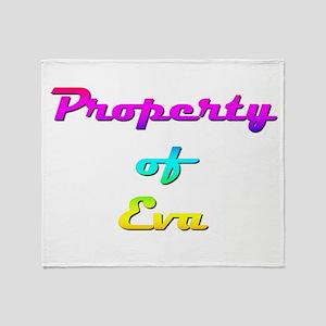 Property Of Eva Female Throw Blanket