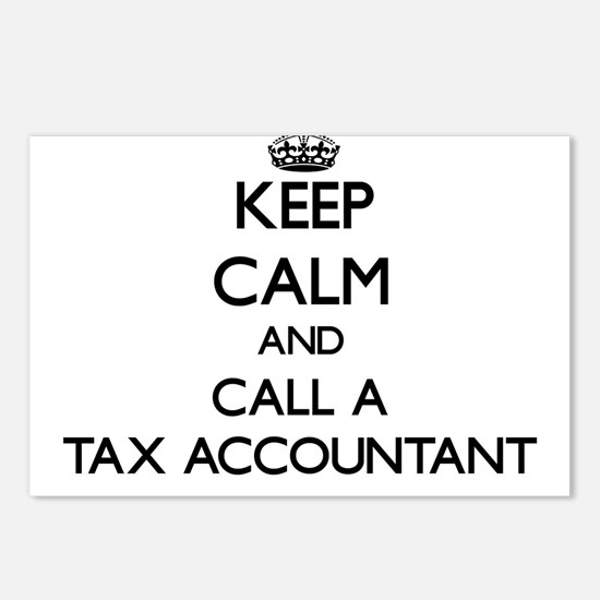 Keep calm and call a Tax Postcards (Package of 8)