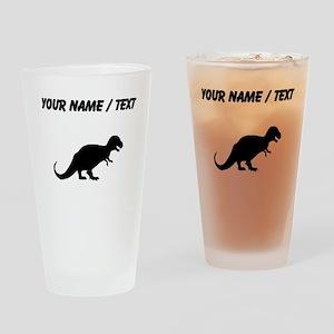 Tyrannosaurus Rex Silhouette (Custom) Drinking Gla