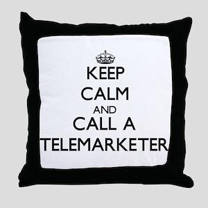 Keep calm and call a Telemarketer Throw Pillow