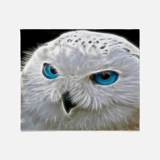 White Owl Throw Blanket