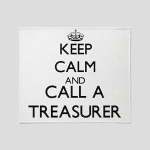 Keep calm and call a Treasurer Throw Blanket