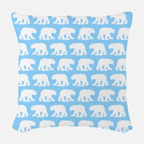 Polar Bears Woven Throw Pillow
