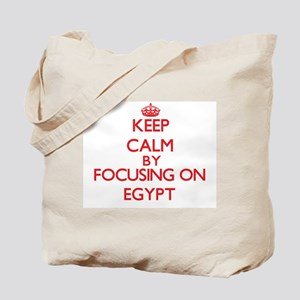 Keep Calm by focusing on EGYPT Tote Bag