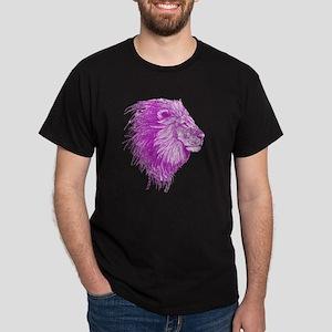 purple dot lion Dark T-Shirt
