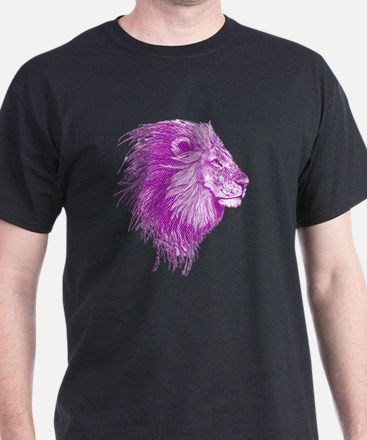 purple dot lion T-Shirt