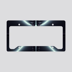 Abstract Art Blue Star License Plate Holder