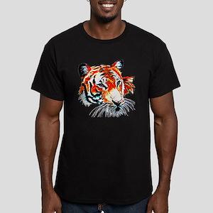 Neon Tiger Men's Fitted T-Shirt (dark)