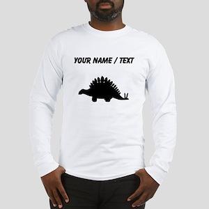 Stegosaurus Silhouette (Custom) Long Sleeve T-Shir