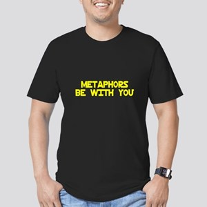 Metaphors Be With You Men's Fitted T-Shirt (dark)