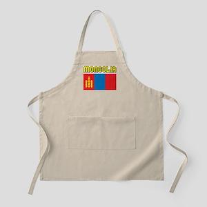 Mongolia Flag BBQ Apron