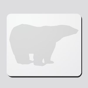 Grey Polar Bear Mousepad