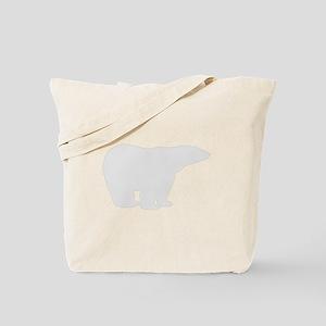 Grey Polar Bear Tote Bag