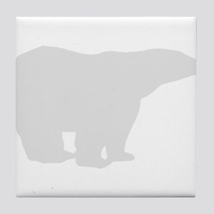 Grey Polar Bear Tile Coaster