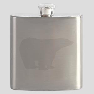 Grey Polar Bear Flask