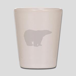 Grey Polar Bear Shot Glass