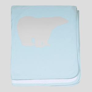 Grey Polar Bear baby blanket