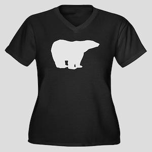 Grey Polar Bear Plus Size T-Shirt