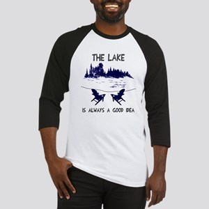 The lake is always a good idea Baseball Jersey