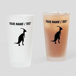Parasaurolophus Silhouette (Custom) Drinking Glass