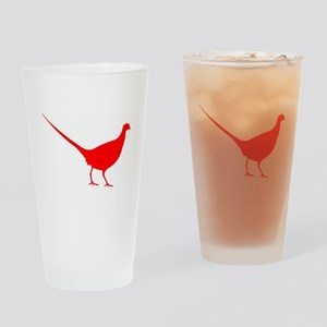 Red Pheasant Drinking Glass