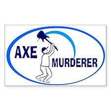 Guitar - Axe Murderer Rectangle Sticker