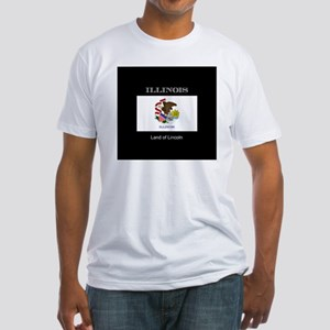 Flag of Illinois, land of lincoln Fitted T-Shirt