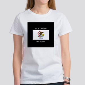 Flag of Illinois, land of lincoln Women's T-Shirt